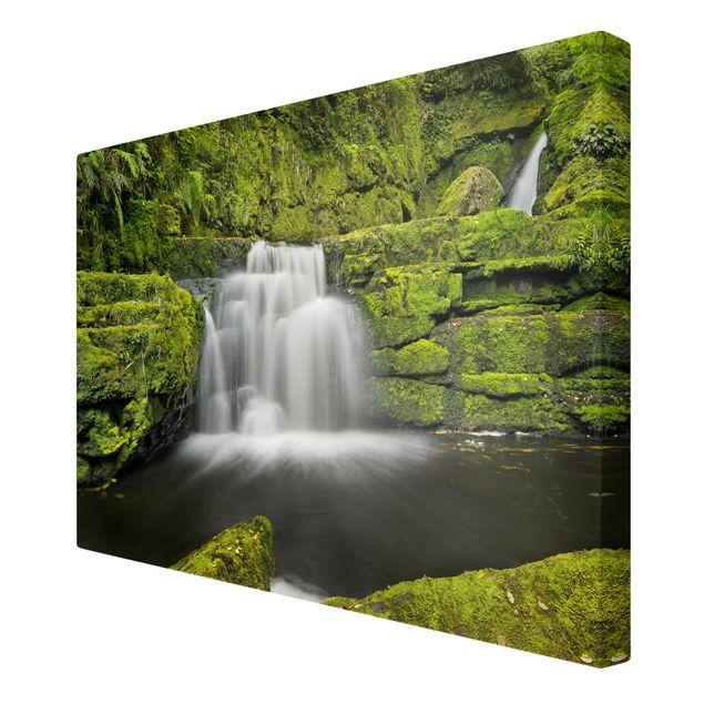 Produktfoto Leinwandbild - Lower McLean Falls in Neuseeland - Querformat 2:3