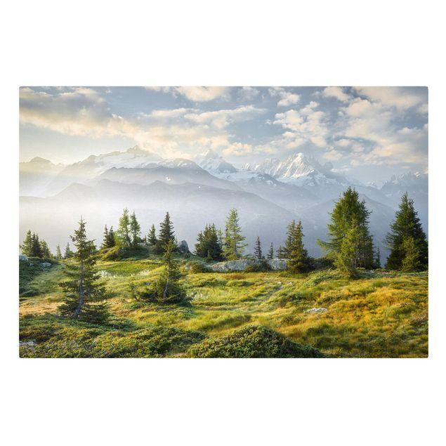 Produktfoto Leinwandbild - Émosson Wallis Schweiz - Querformat 2:3