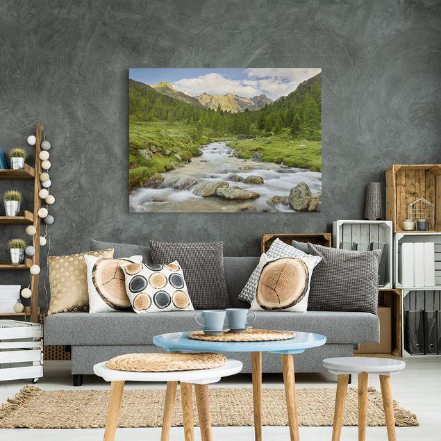 Produktfoto Leinwandbild - Debanttal Nationalpark Hohe Tauern - Querformat 3:4