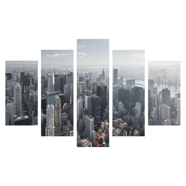 Produktfoto Leinwandbild 5-teilig - Upper Manhattan New York City