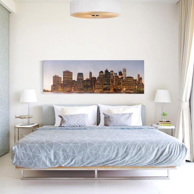 Produktfoto Leinwandbild - Blick auf Manhattan Skyline - Panorama 1:3