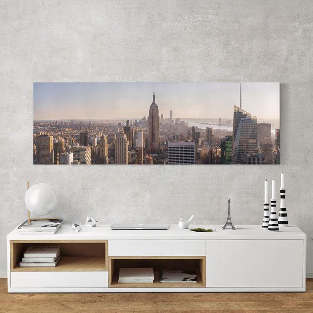 Produktfoto Leinwandbild - Blick vom Top of the Rock - Panorama 1:3