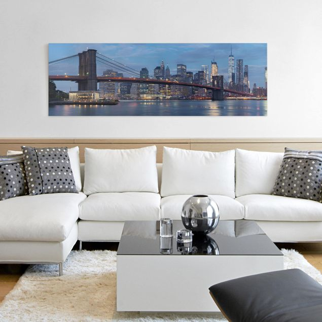 Produktfoto Leinwandbild - Brooklyn Bridge Manhattan New York - Panorama 1:3
