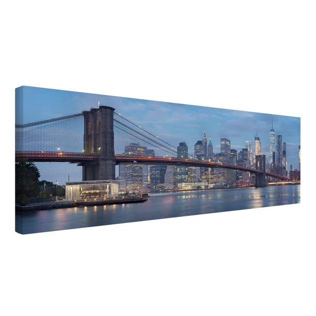 Produktfoto Leinwandbild - Brooklyn Bridge Manhattan New York - Panorama 1:3