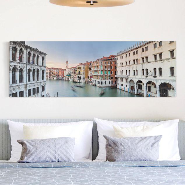 Produktfoto Leinwandbild - Canale Grande Blick von der Rialtobrücke Venedig - Panorama 1:3