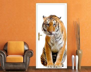 Produktfoto TürTapete Sitzender Tiger