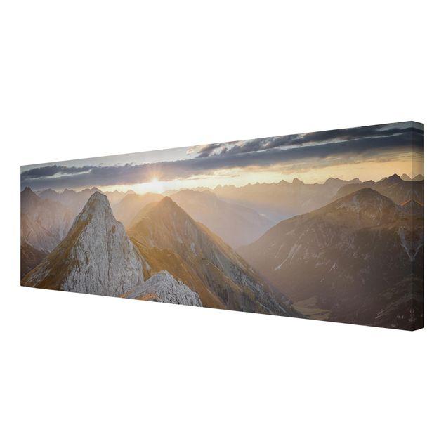 Produktfoto Leinwandbild - Lechtaler Alpen - Panorama 1:3