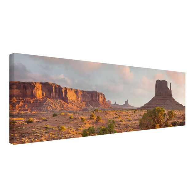 Produktfoto Leinwandbild - Monument Valley Navajo Tribal Park Arizona - Panorama 1:3