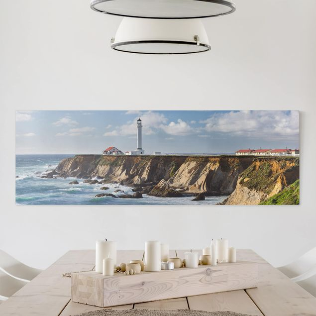 Produktfoto Leinwandbild - Point Arena Lighthouse Kalifornien - Panorama 1:3