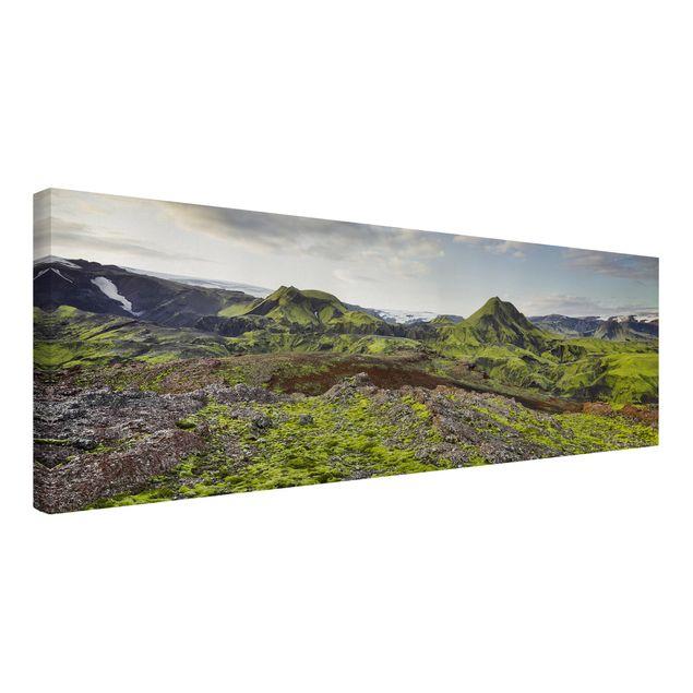 Produktfoto Leinwandbild - Rjupnafell Island - Panorama 1:3