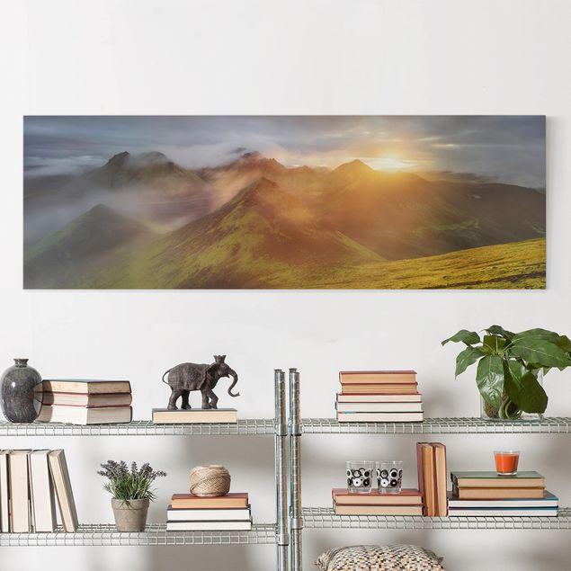 Produktfoto Leinwandbild - Storkonufell im Sonnenaufgang - Panorama 1:3