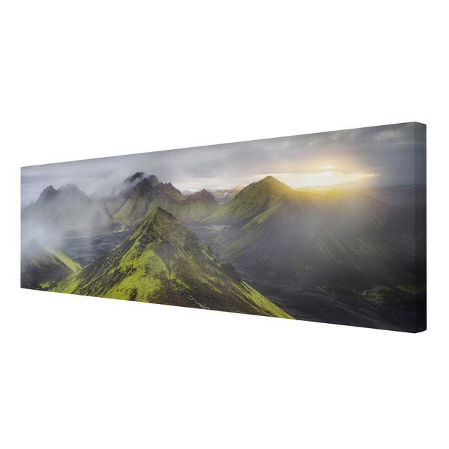 Produktfoto Leinwandbild - Storkonufell Island - Panorama 1:3