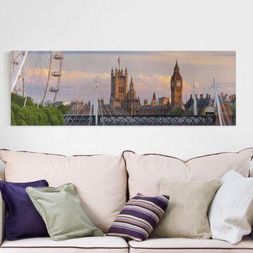 Produktfoto Leinwandbild - Westminster Palace London - Panorama 1:3