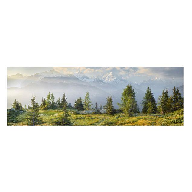 Produktfoto Leinwandbild - Émosson Wallis Schweiz - Panorama 1:3