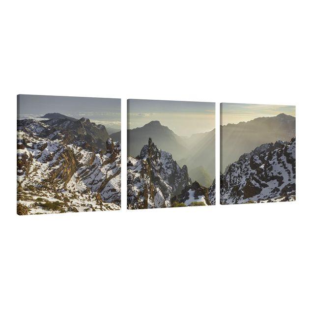 Produktfoto Leinwandbild 3-teilig - Berge in La Palma - Quadrate 1:1