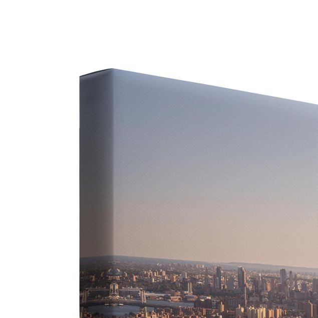 Produktfoto Leinwandbild 3-teilig - Blick vom Top of the Rock - Quadrate 1:1