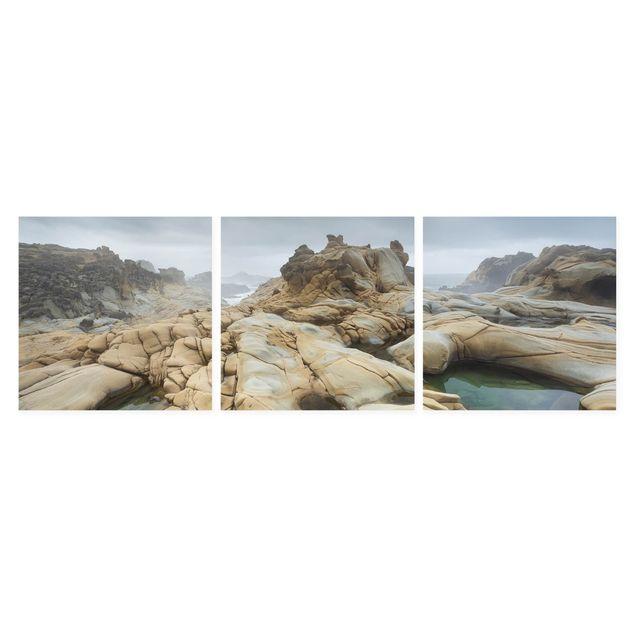 Produktfoto Leinwandbild 3-teilig - Salt Point State Park - Quadrate 1:1