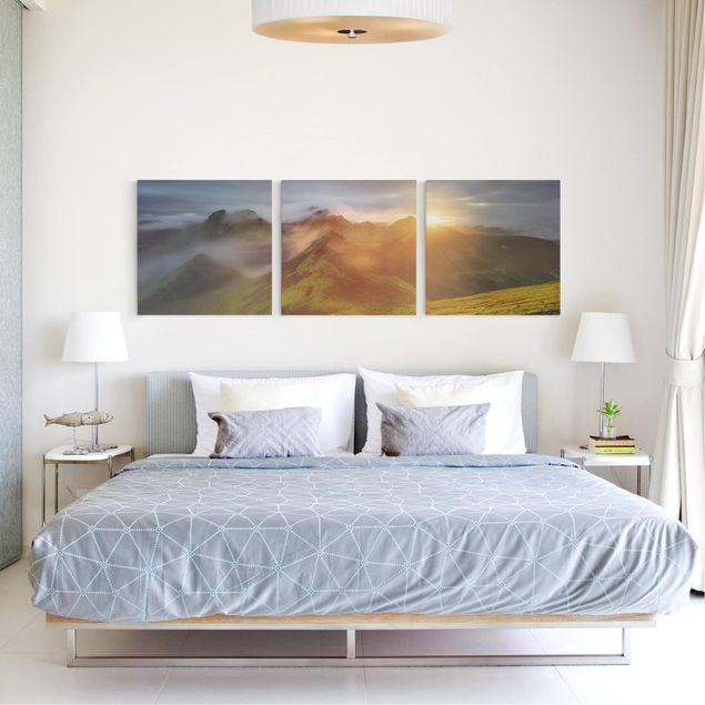 Produktfoto Leinwandbild 3-teilig - Storkonufell im Sonnenaufgang - Quadrate 1:1