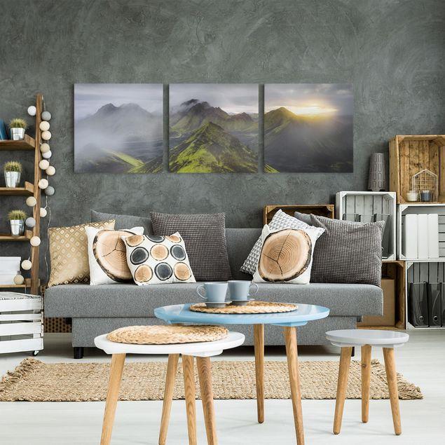 Produktfoto Leinwandbild 3-teilig - Storkonufell Island - Quadrate 1:1