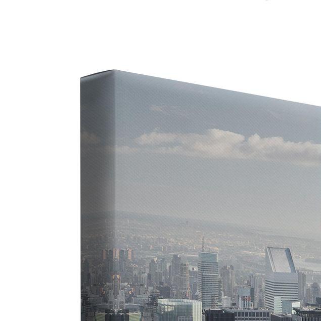 Produktfoto Leinwandbild 3-teilig - Upper Manhattan New York City - Galerie Triptychon