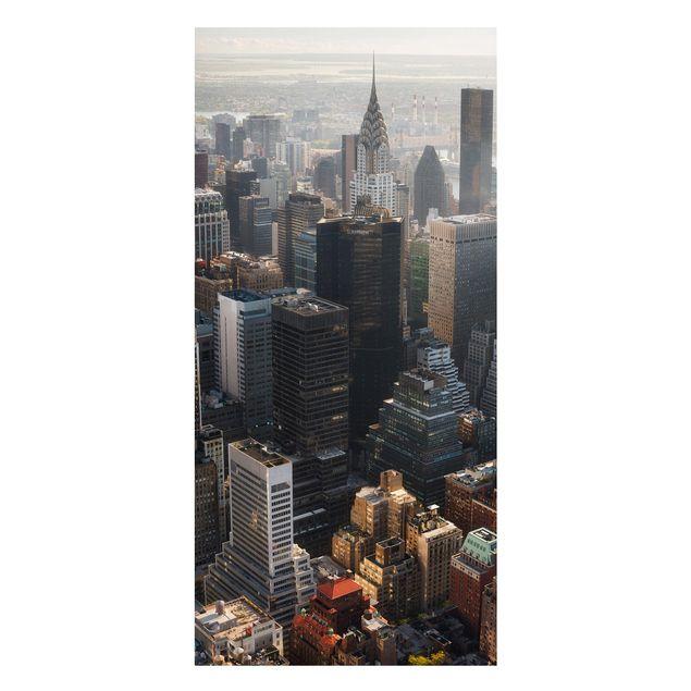 Produktfoto Magnettafel - Vom Empire State Building Upper Manhattan NY - Memoboard Panorama Hochformat 2:1