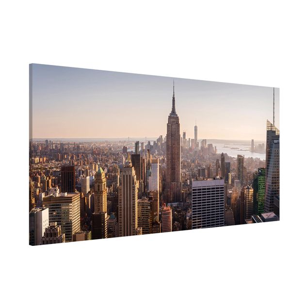 Produktfoto Magnettafel - Blick vom Top of the Rock - Memoboard Panorama Querformat 1:2