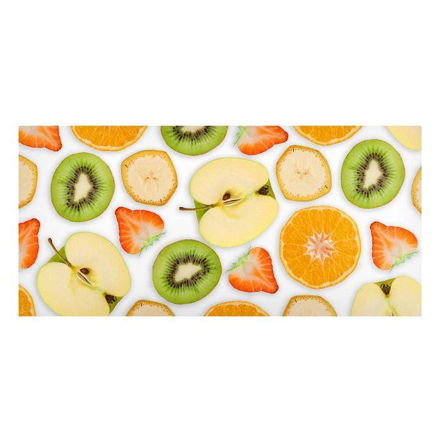 Produktfoto Magnettafel - Bunter Obst Mix - Memoboard Panorama Querformat 1:2