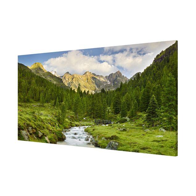 Produktfoto Magnettafel - Debanttal Nationalpark Hohe Tauern - Memoboard Panorama Querformat 1:2