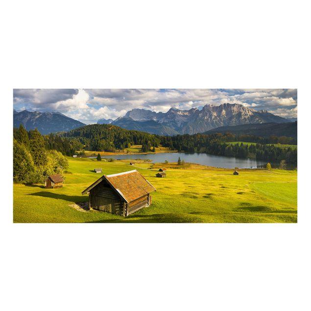 Produktfoto Magnettafel - Geroldsee Oberbayern - Memoboard Panorama Querformat 1:2