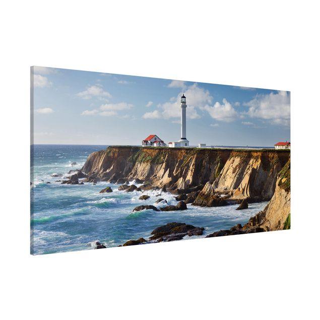Produktfoto Magnettafel - Point Arena Lighthouse Kalifornien - Memoboard Panorama Querformat 1:2