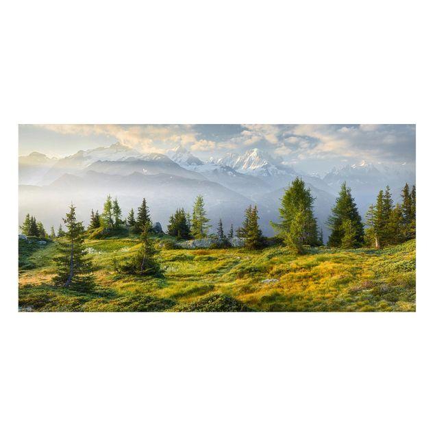 Produktfoto Magnettafel - Émosson Wallis Schweiz - Memoboard Panorama Querformat 1:2