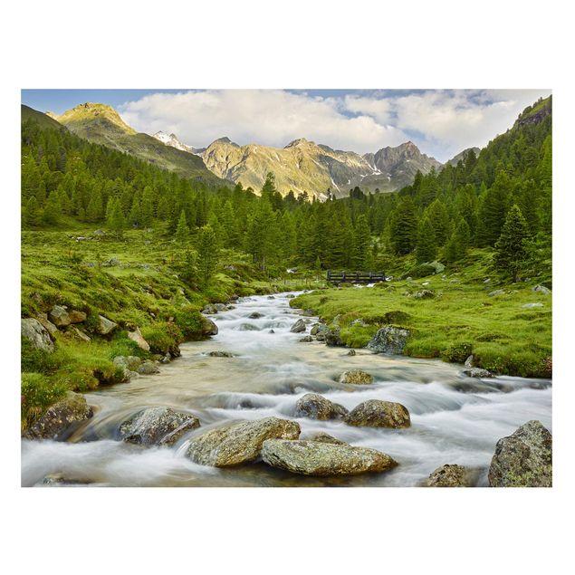 Produktfoto Magnettafel - Debanttal Nationalpark Hohe Tauern - Memoboard Querformat 3:4