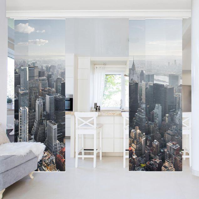 Produktfoto Schiebegardinen Set - Upper Manhattan New York City - 4 Flächenvorhänge