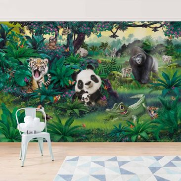 Product picture Photo Wall Mural - Jungle With Animals -...