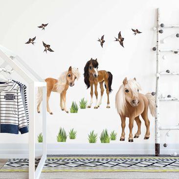 Immagine del prodotto Adesivo murale 3D - Set Pony