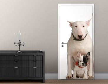Produktfoto Door Wall Mural Bull Terrier and Friend
