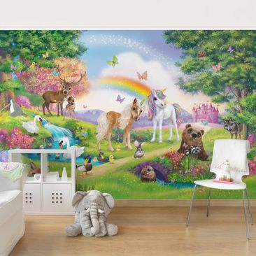 Product picture Photo Wall Mural - Enchanted Forest With...