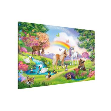 Produktfoto Magnettafel Kinderzimmer - Animal Club International - Zauberwald mit Einhorn - Memoboard Querformat 2:3