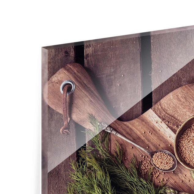 Produktfoto Glasbild - Spargel Rustikal - Quadrat 1:1