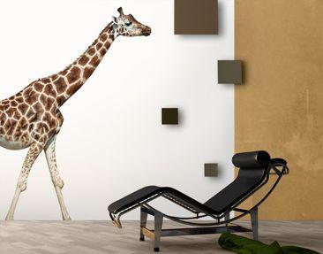 Produktfoto Selbstklebende Tapete - Fototapete Laufende Giraffe 288x270cm