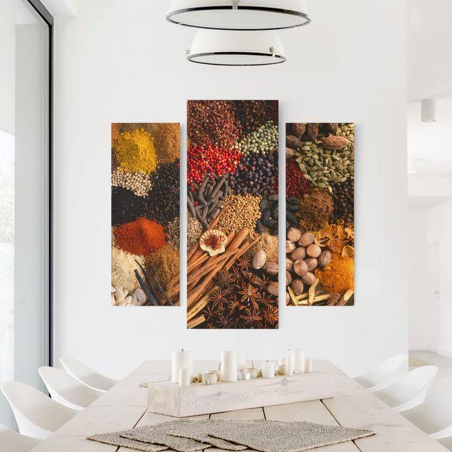 Produktfoto Leinwandbild 3-teilig - Exotische Gewürze - Galerie Triptychon