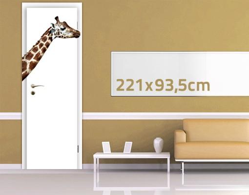 Produktfoto TürTapete Laufende Giraffe