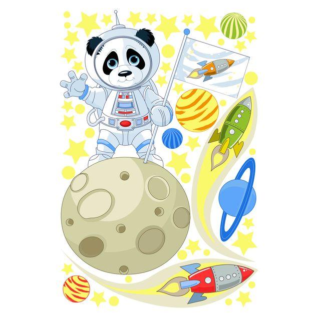 Produktfoto Fensterfolie Fenstersticker - Astronaut Panda