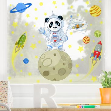 Product picture Window Sticker - Astronaut Panda