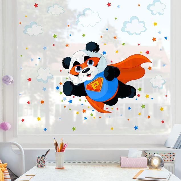 Produktfoto Fensterfolie Fenstersticker - Super Panda