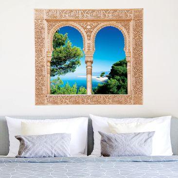 Produktfoto 3D Wandtattoo - Verziertes Fenster Hidden Paradise