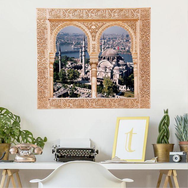 Produktfoto 3D Wandtattoo - Verziertes Fenster Moschee Istanbul