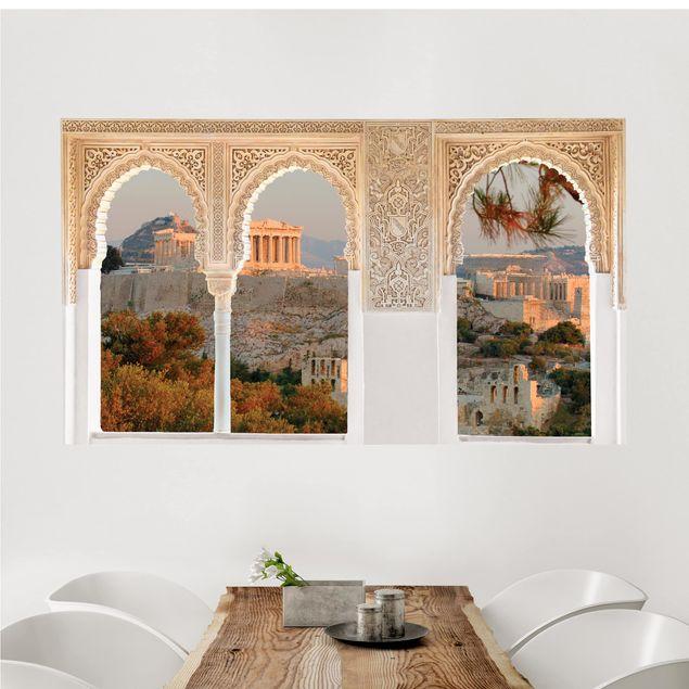 Produktfoto 3D Wandtattoo - Verzierte Fenster Akropolis