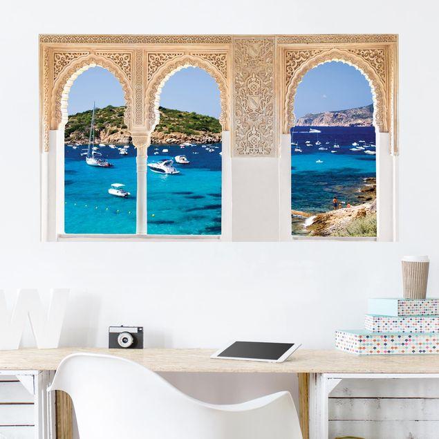 Produktfoto 3D Wandtattoo - Verzierte Fenster Dragon Island