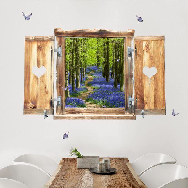 Produktfoto 3D Wandtattoo - Fenster mit Herz Wanderweg in Hertfordshire